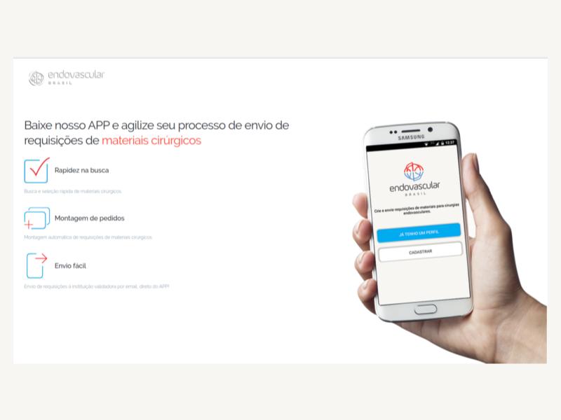 Como solicitar cirurgias e materiais com um app direto do celular